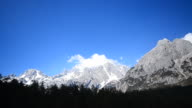 Snow Mountain Landscape and Pine Tree Forests video