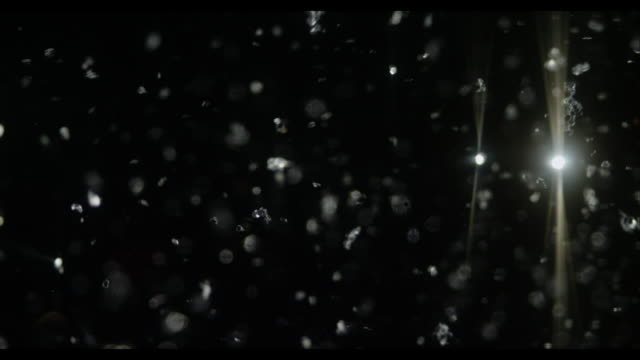 Snow sliver glitter with black background Abstract video