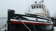 Snow, Steveston Fishboat video