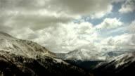 Snow Storm Mountains Colorado Rockies Ski Snowboard Wilderness Environment LOOP video