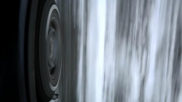Snow tire. video