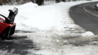 Snowblower Clearing Driveway video