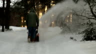 Snowblowing Driveway video