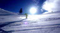 Snowboard Downhill Slow Motion video