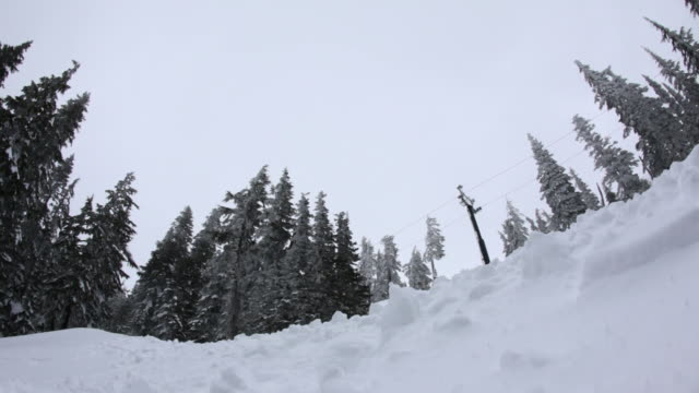 Snowboarder flies over video