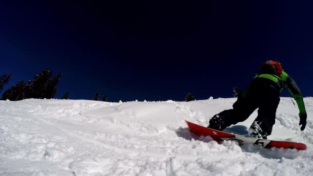 Snowboarder Performing Stunts video