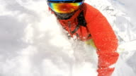 snowboarding fail on a freeride video