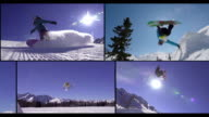 MONTAGE: Snowboarding fun in the snowboard park video
