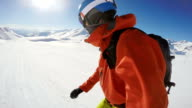 snowboarding GoPro rotor point of view video