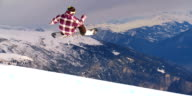 Snowboarding in a halfpipe video