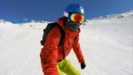 snowboarding selfie video