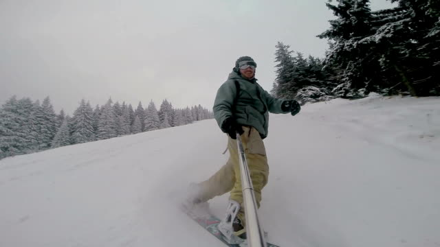 Snowboarding video