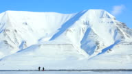 Snow-covered mountains of the Spitsbergen archipelago. video
