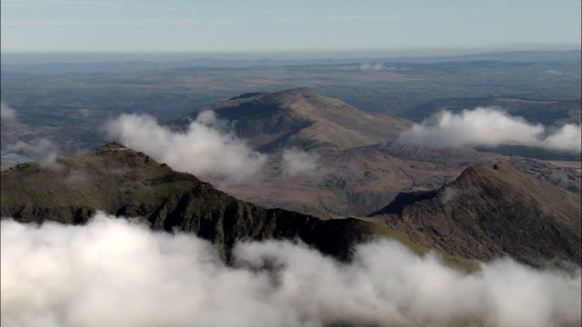 Snowdon  - Aerial View - Wales, Caernarfonshire and Merionethshire, United Kingdom video