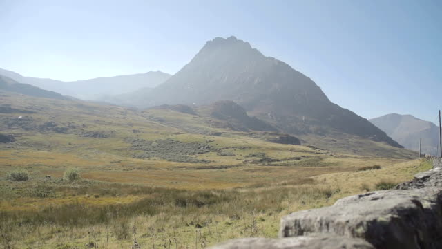 Snowdonia Mountains Tryfan and Ogwen Valley From A5 Road video