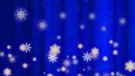 Snowfall abstract background Blue Loop video
