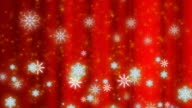 Snowfall abstract background Red Loop video