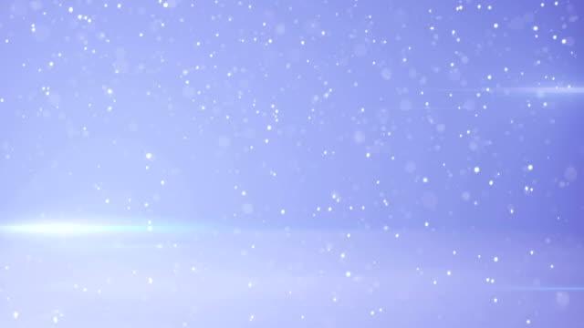 snowfall and light stripes seamless loop animation video