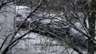 Snowfall in City video