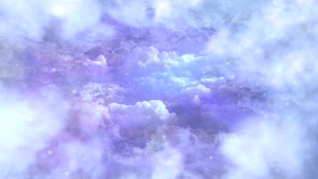 Snowfall in the clouds video