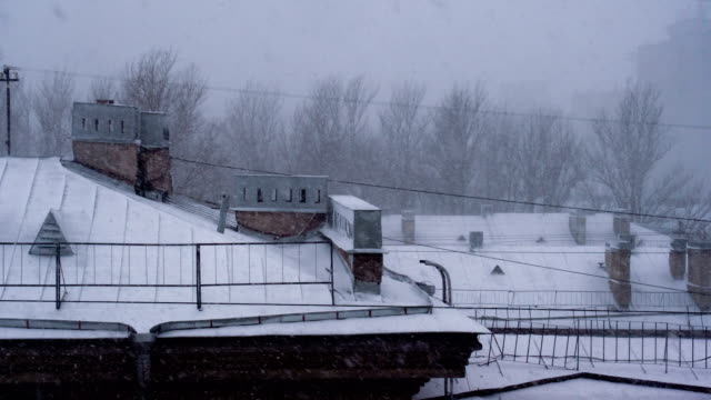 Snowfall in the Old European City video
