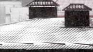 Snowfall on roofs video