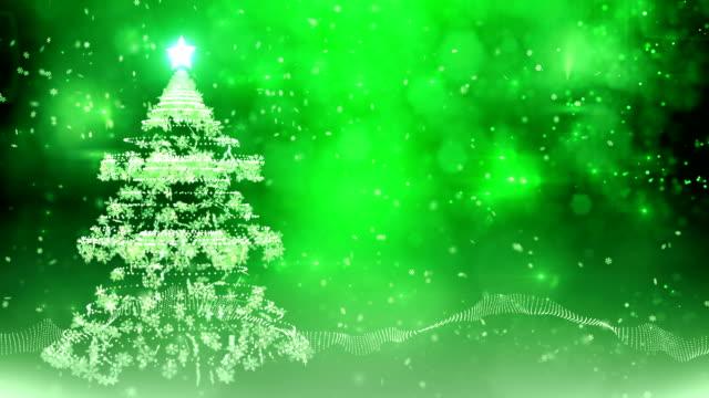 Snowflake christmas tree (green) - Loop video