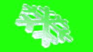 3D Snowflake on Green Screen video