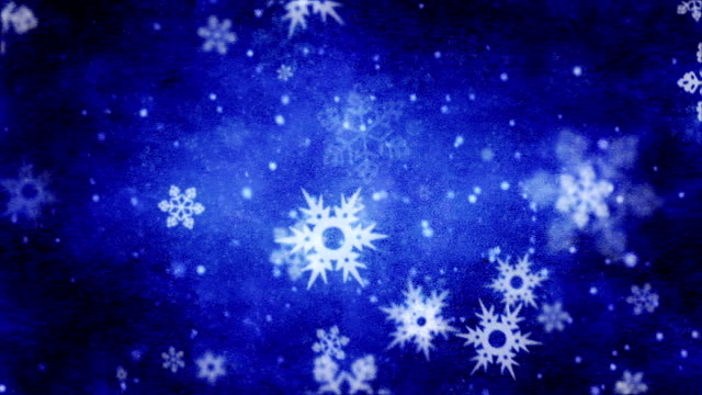 Snowflakes falling background loop video