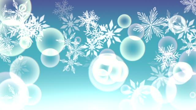 Snowflakes on pastel video