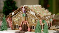 Snowing on a Gingerbread House video