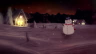 HD: Snowman Waving And Wishing Happy Holidays video