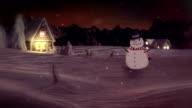 HD: Snowman Waving And Wishing Happy New Year video