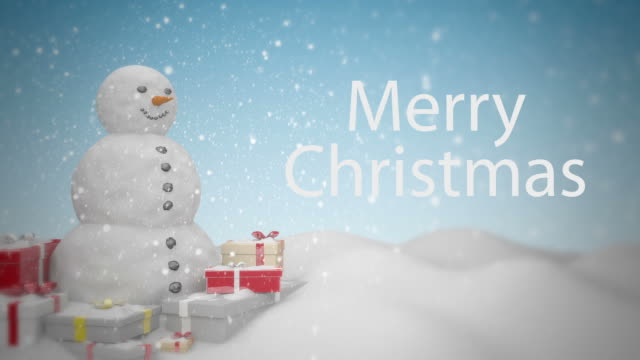 Snowman with Gifts video