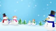 Snowmen In Winter Wonderland video