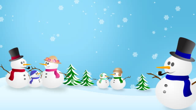 Snowmen In Winter Wonderland video