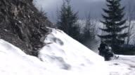 Snowmobile Rounds Corner video