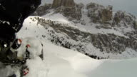 OV Snowshoeing in High Mountain Landscape (2 Clips) video