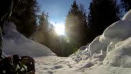 POV Snowshoeing in Winter Landscape video