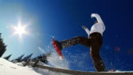 HD SLOW-MOTION: Snowshoeing Time video