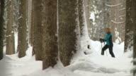 HD: Snowshoeing Winter Activity video