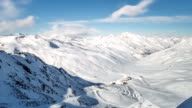 Snowy Alps Time Lapse video