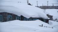 snowy house video