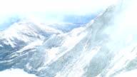 Snowy Jungfrau in the mist video