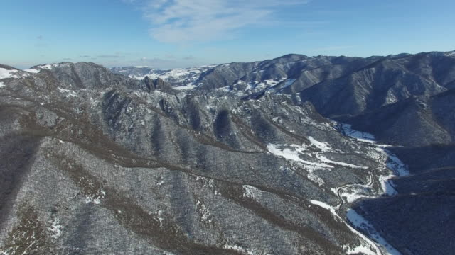 AERIAL: Snowy landscape video