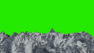 Snowy Mountain Ranges on a Green Screen Background video