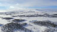 Snowy mountain video