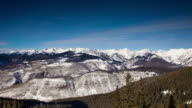 Snowy Mountains Near Vail - Time Lapse video