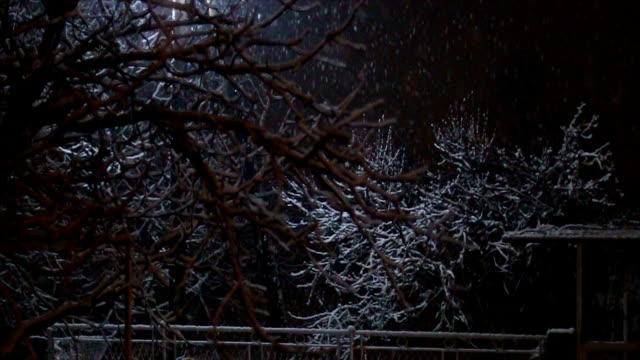 Snowy night video