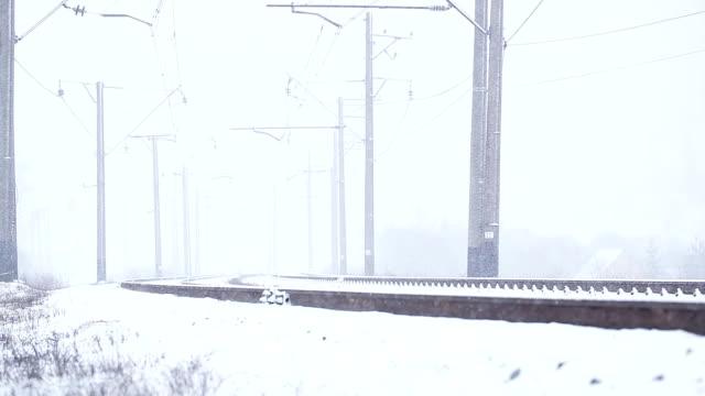 Snowy railway video